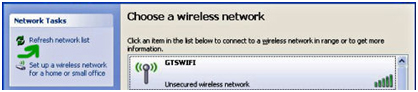 wireless network list